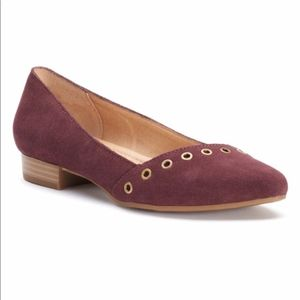 Sonoma Women's Suede Flats Wine New